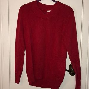 White Stag long sleeved red sweater size m(8-10)